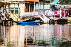 Shikara boat in Dal lake , Kashmir India Royalty Free Stock Photos