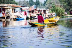 Shikara boat in Dal lake , Kashmir India Stock Photography