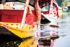 Shikara boat in Dal lake , Kashmir India Stock Images
