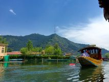 Shikara (boat) on Dal Lake Stock Image