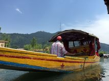 Shikara (boat) on Dal Lake Royalty Free Stock Photography
