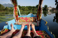 Shikara boat in Kashmir India Royalty Free Stock Photo