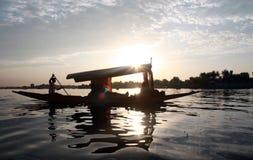 Shikara Boat Lake Mountain Royalty Free Stock Images