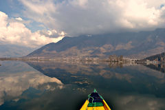 Shikara in Dal Lake Stock Images
