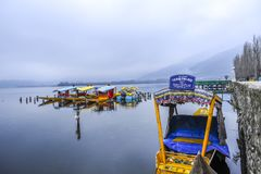 Shikara is one of the interesting activity that tourist can do in Kashmir Royalty Free Stock Photos
