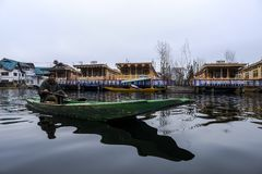 Shikara is one of the interesting activity that tourist can do in Kashmir Stock Photos