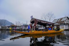 Shikara is one of the interesting activity that tourist can do in Kashmir Royalty Free Stock Images