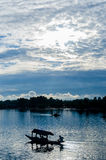Shikara op Dal Lake Royalty-vrije Stock Afbeeldingen