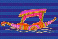 Shikaraboot in Indische kunststijl royalty-vrije illustratie