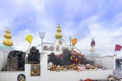 Shikari Mata/άστεγος ναός Devi (η θεά κυνηγών), Himala Στοκ Φωτογραφία