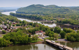 Shikellamy Park Overlook Pennsylvania Royalty Free Stock Image