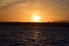 Shikh del al del sharm de Egipto de la puesta del sol Fotos de archivo libres de regalías