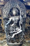Chennakeshava Temple, Belur. Shilabalika celestial maiden in Chennakesava temple at Belur Royalty Free Stock Photo