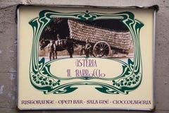 Shild σε μια οδό της Φλωρεντίας Στοκ φωτογραφία με δικαίωμα ελεύθερης χρήσης
