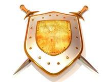 Shild avec l'épée. Garantie Image stock