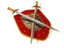 Shild com espada. Segurança Fotografia de Stock Royalty Free