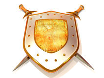Shild con la spada. Obbligazione Immagine Stock