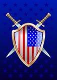 Shild e spade U.S.A. royalty illustrazione gratis