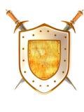 Shild met Zwaard. Veiligheid Royalty-vrije Stock Afbeelding
