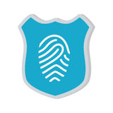 Shiled protection fingerprint secure system. Illustration eps 10 Royalty Free Stock Image