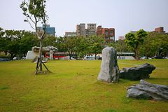 Shilin official residence Park. The Taipei Shilin official residence is located in the forest road of Shilin, Taipei. It was used as the gardening land of the royalty free stock photos