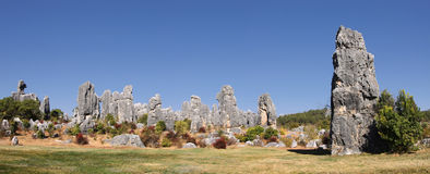 Shilin stone forest near kunming Royalty Free Stock Images