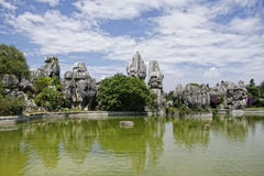 Shilin, stone forest. Rock formations in Shilin, stone forest in China Royalty Free Stock Photography