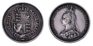 Shilling 1887 van de verjaardag Stock Foto