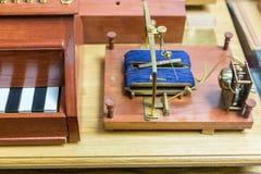 Shilling`s electromagnetic telegraph Stock Image