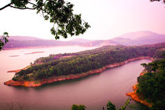 Shillong, τοπίο Umiam, ομορφιά της φύσης Στοκ εικόνα με δικαίωμα ελεύθερης χρήσης