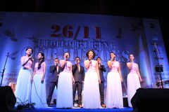 Shillong chamber choir at homage program in Mumbai Stock Photography