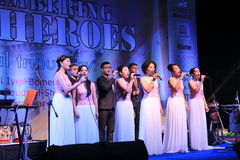 Shillong chamber choir at homage program in Mumbai Stock Image