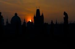 shillouette της Πράγας Στοκ φωτογραφίες με δικαίωμα ελεύθερης χρήσης