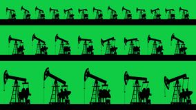 Shilluette de las bombas de aceite Tres niveles stock de ilustración
