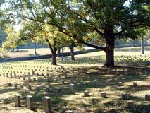 shiloh кладбища стоковое изображение rf