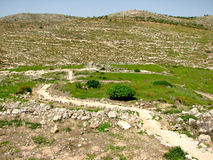 Shiloh, Israel. The place where the tabernacle stood when the Israelites first came into the land of Israel Royalty Free Stock Photography