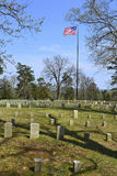 Shiloh National Cemetery. Gravestones mark the burial place of Union troops at Shiloh National Cemetery just above Pittsburg Landing Royalty Free Stock Photography