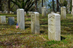Shiloh National Cemetery. Gravestones mark the burial place of Union troops at Shiloh National Cemetery just above Pittsburg Landing Royalty Free Stock Photos