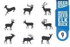 Shilouette de cerfs communs Photographie stock libre de droits