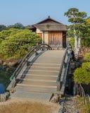 Shima-Jaya Teahouse på trädgården Koraku-en Royaltyfri Foto