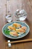 Shima zushi, japansk lokal sushi med kall skull Arkivbilder