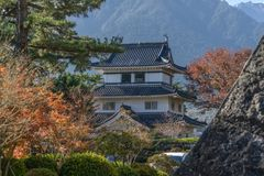 Shimabara Castle daytime in Kyushu royalty free stock photo