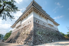Shimabara Castle, Nagasaki, Kyushu, Japan. Shimabara Castle is a white walled castle built during the early Edo Period as the seat of the local feudal lord. The Stock Images