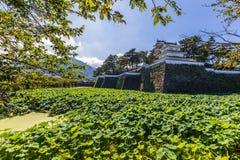 Shimabarakasteel, beroemde aantrekkelijkheid in de Prefectuur van Nagasaki, Kyu stock fotografie