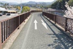 Shimanami Kaido最普遍的自行车路线在日本 库存照片
