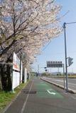 Shimanami Kaido最普遍的自行车路线在日本 免版税库存图片
