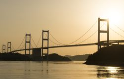 The Shimanami Kaido the most popular bicycle route in japan. Stock Photography