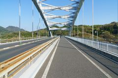 The Shimanami Kaido the most popular bicycle route in japan. Royalty Free Stock Image