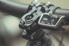 Shimano Di technology για τα ποδήλατα βουνών Στοκ εικόνα με δικαίωμα ελεύθερης χρήσης