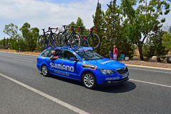 Shimano Neutral Vehicle Car La Vuelta España Royalty Free Stock Images